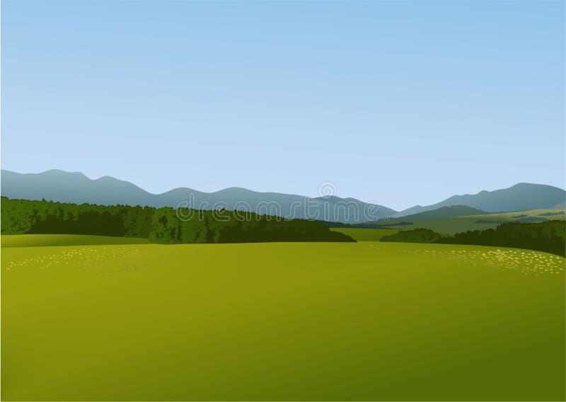 Download Rural landscape stock vector. Image of illustration, outdoor - 41956858