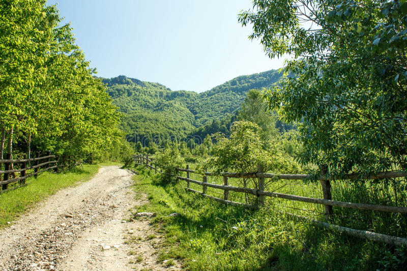 Rural Landscape. With green mountains in the background royalty free stock image