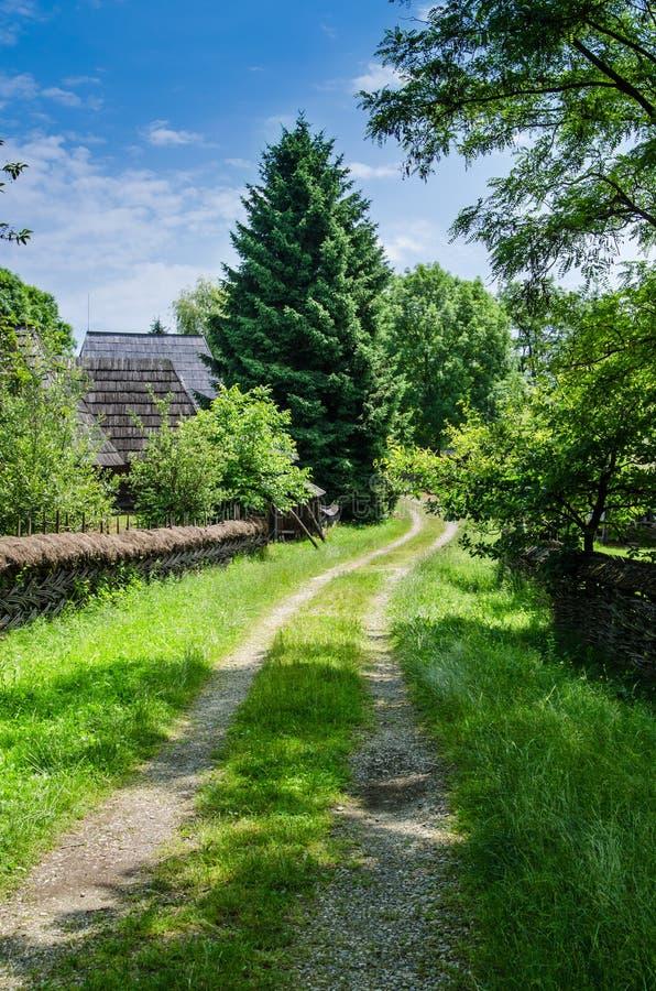 Rural landscape of an old vilage in Maramures stock image