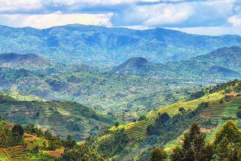 Rural Landscape Rwanda royalty free stock photos