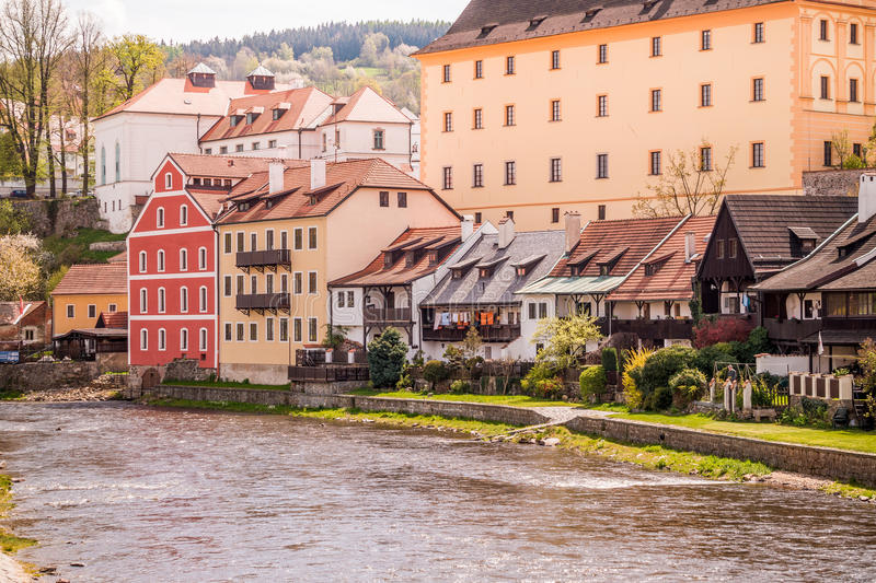 Rural landscape in South Bohemia. Provincial architecture of South Bohemia royalty free stock images