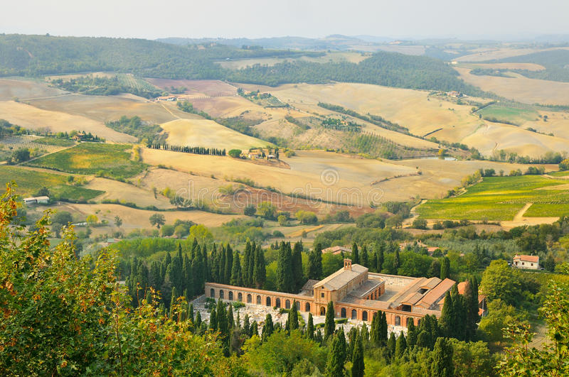 Rural landscape in toscana stock photography
