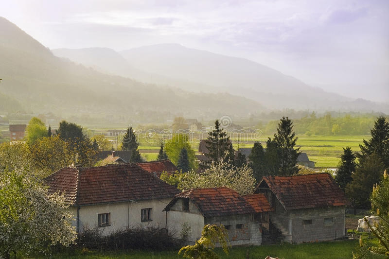 Download Rural Landscape Under The Rain Royalty Free Stock Photos - Image: 12559228