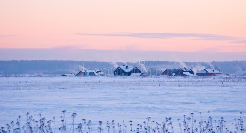 Download Rural landscape in winter stock photo. Image of scene - 18419588
