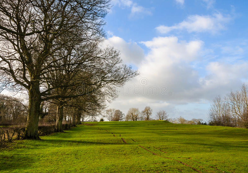 Rural landscape in winter in England stock photos