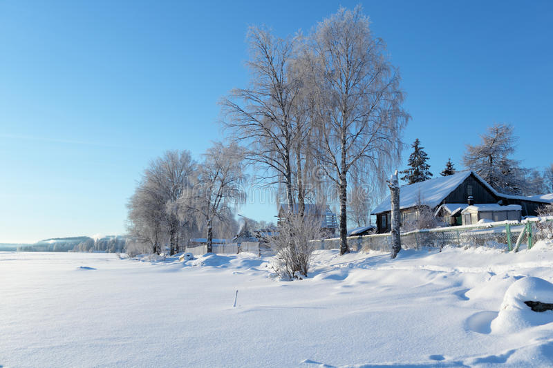 Rural landscape in winter royalty free stock image