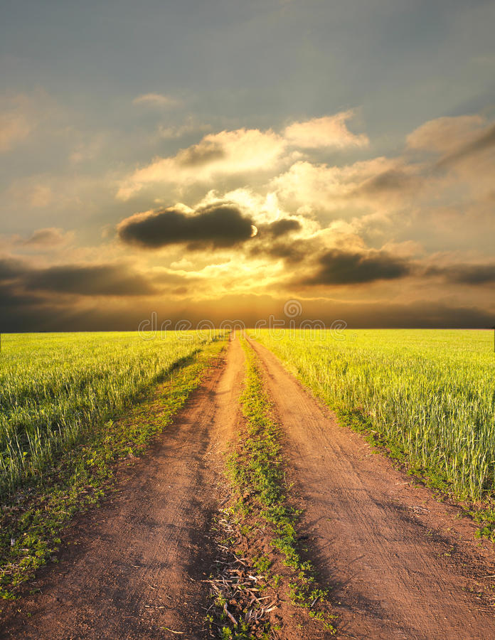 Free Rural Landscape With A Road Stock Photography - 25522272
