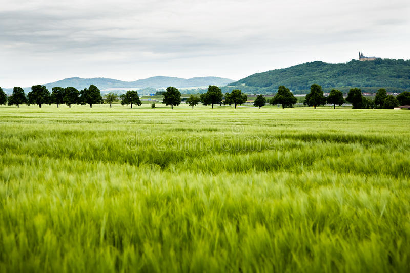 Rural lansdscape. A rural lansdscape near Lichtefels in Germany royalty free stock images