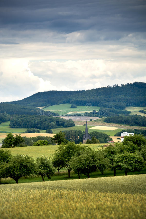 Rural lansdscape near Coburg. A rural lansdscape near Coburg in Germany stock image