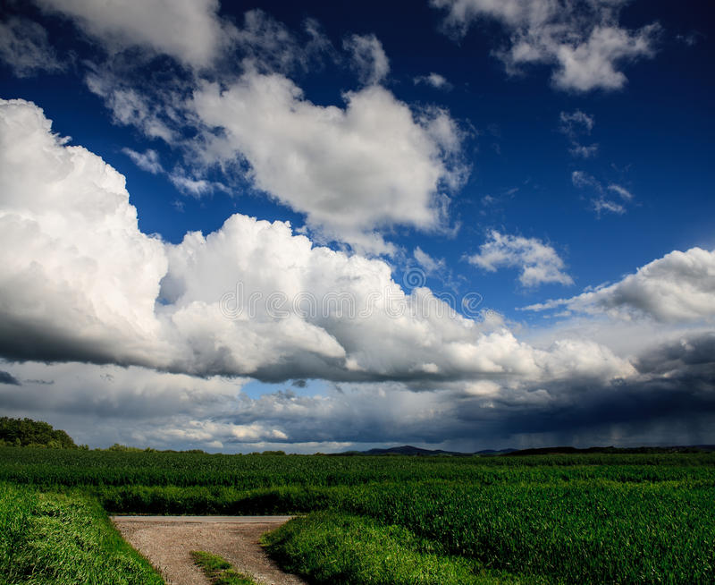 Rural lansdscape. Near Coburg in Germany stock images
