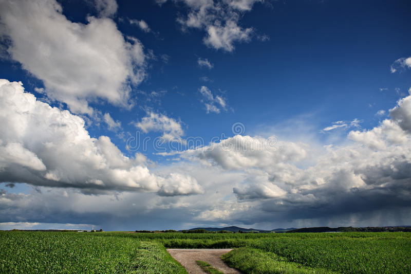 Rural lansdscape. Near Coburg in Germany stock photo