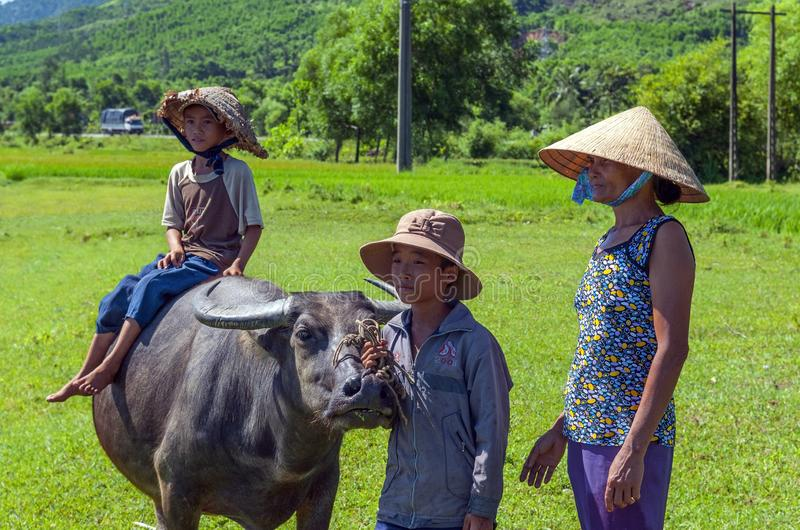 Rural Life in Central Vietnam royalty free stock photography