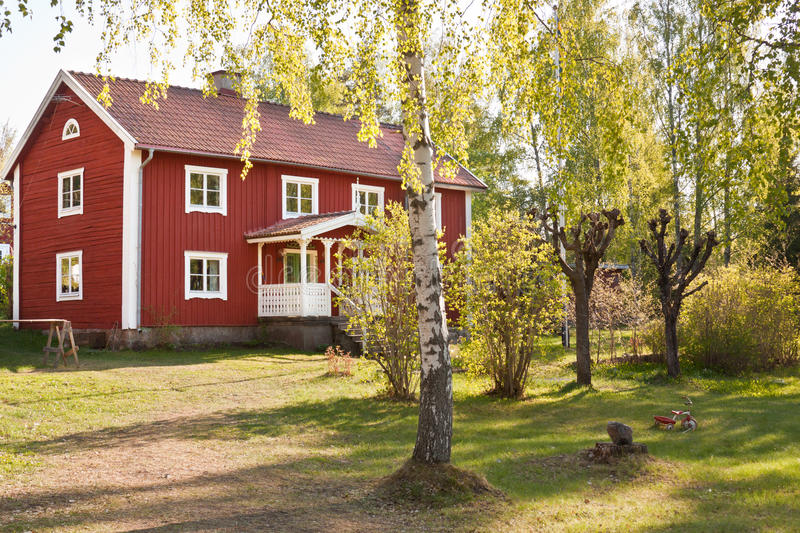 Rural life in Sweden. stock photos