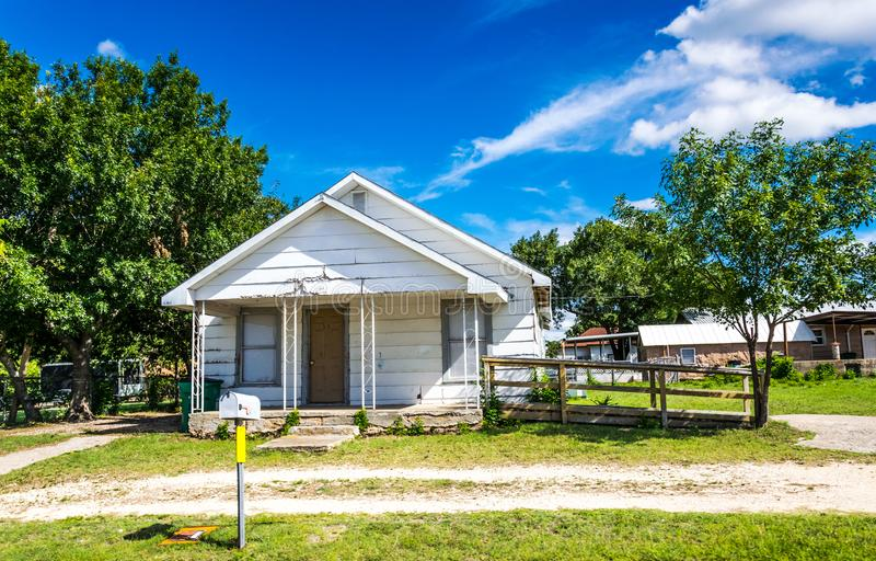 Rural life in the USA. Cozy family house in Texas royalty free stock photography