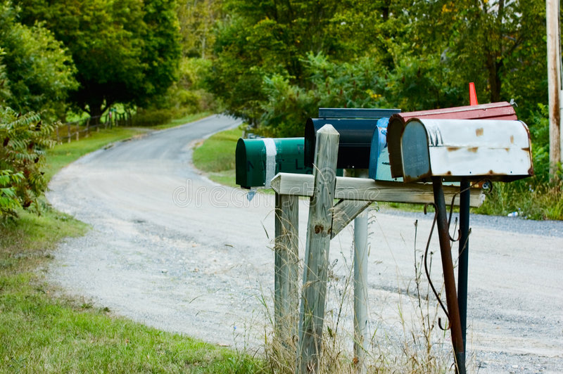 Rural Mail stock photography