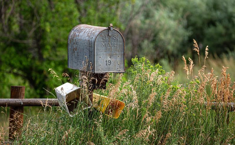 Rural Mailbox: No News for Number 19. Rural Mailbox: No News is good news for Number 19, Natural Beauty stock photos