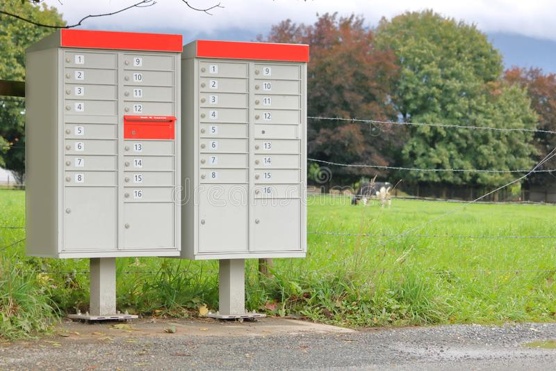Rural Mailboxes for Multiple Residences stock photography