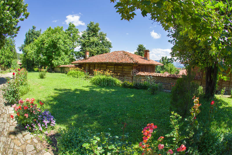 Rural manor in the Balkans royalty free stock photography