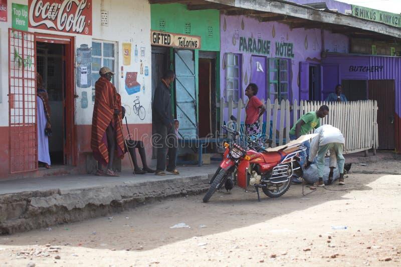 Rural Masai area stock photo