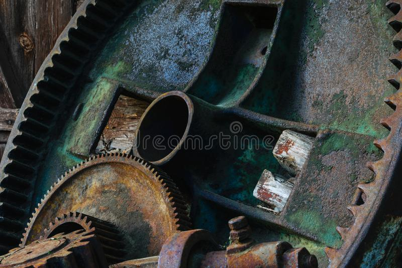 Rural metal device parts royalty free stock photography