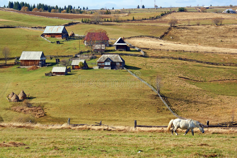 Rural mountain landscape royalty free stock photography