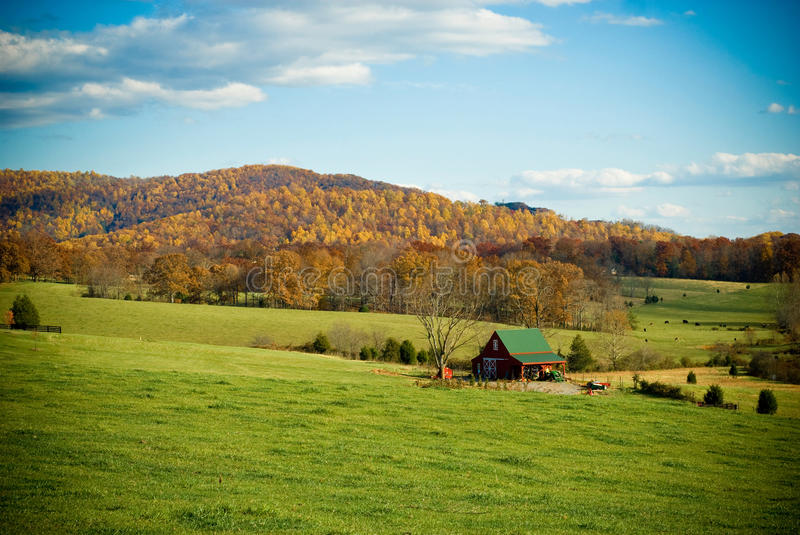 Rural Mountain Scene in Fall stock images