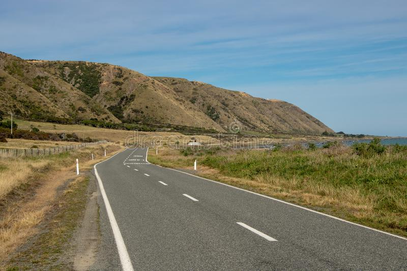 Seaside Country Road royalty free stock images