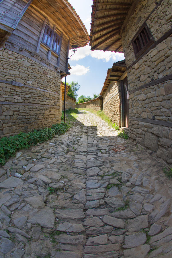 Rural paving in Balkan royalty free stock photography