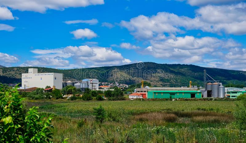 Rural Produce Processing Plant, Albania stock photo