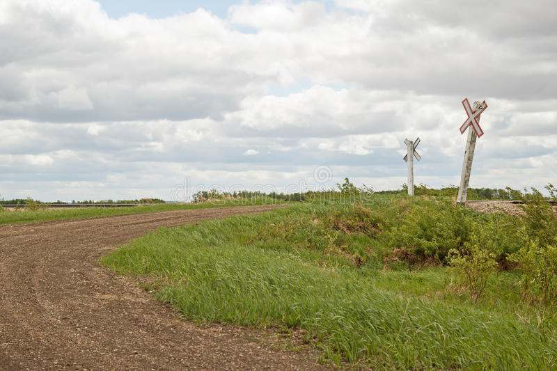 Download Rural Railway Crossing Signs Stock Photo - Image: 41345092