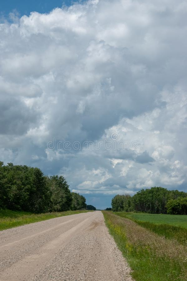 Rural Range Road and Farm Land, Saskatchewan, Canada. Rural Range Road and Farm Land, Saskatchewan, Canada stock photo