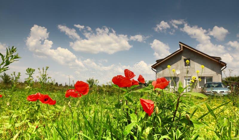 Rural residence stock image