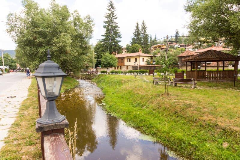 Rural rest park in Koprivshtitsa, Bulgaria stock images