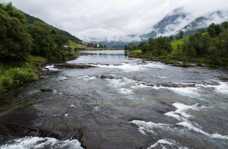 A rural river stock images