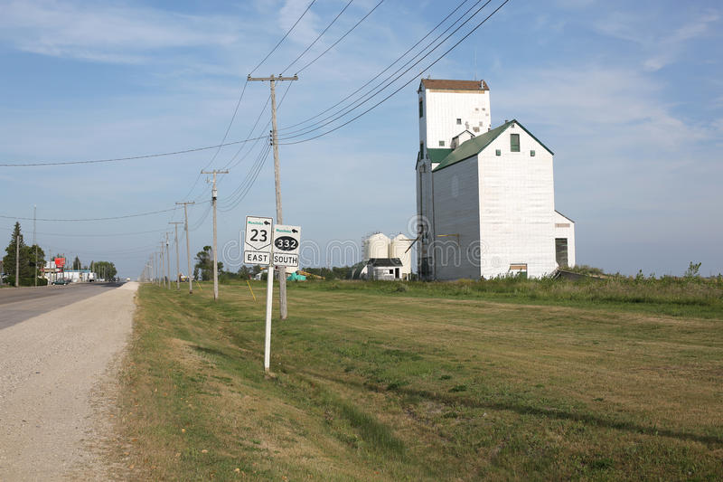 Rural road in Manitoba, Canada royalty free stock photography