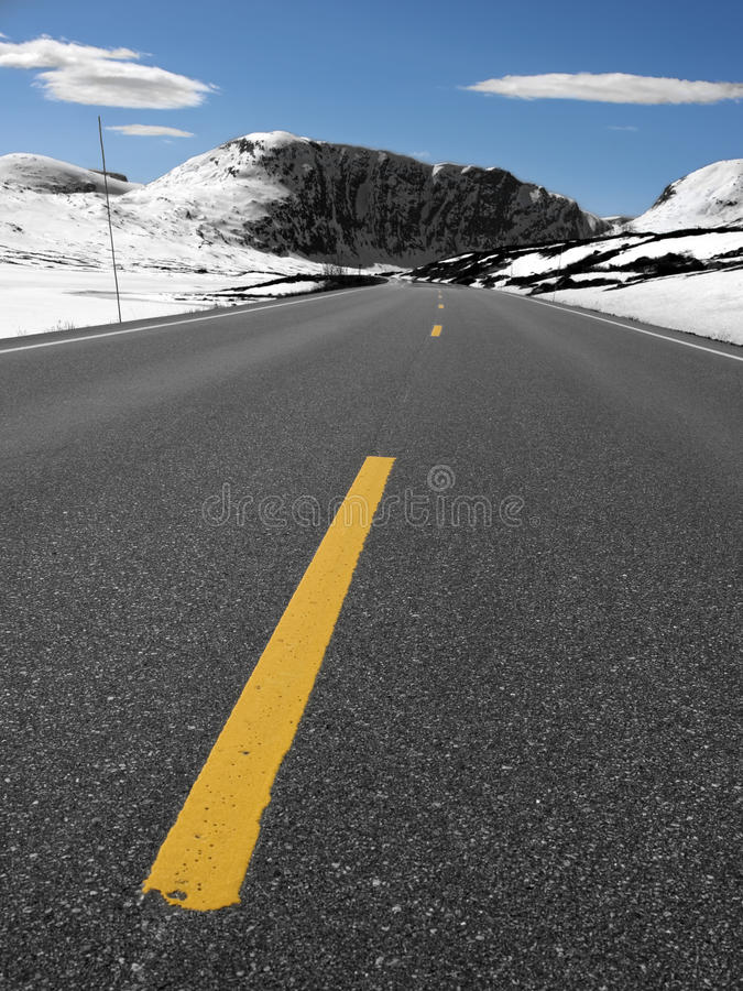 Rural road in norway royalty free stock images