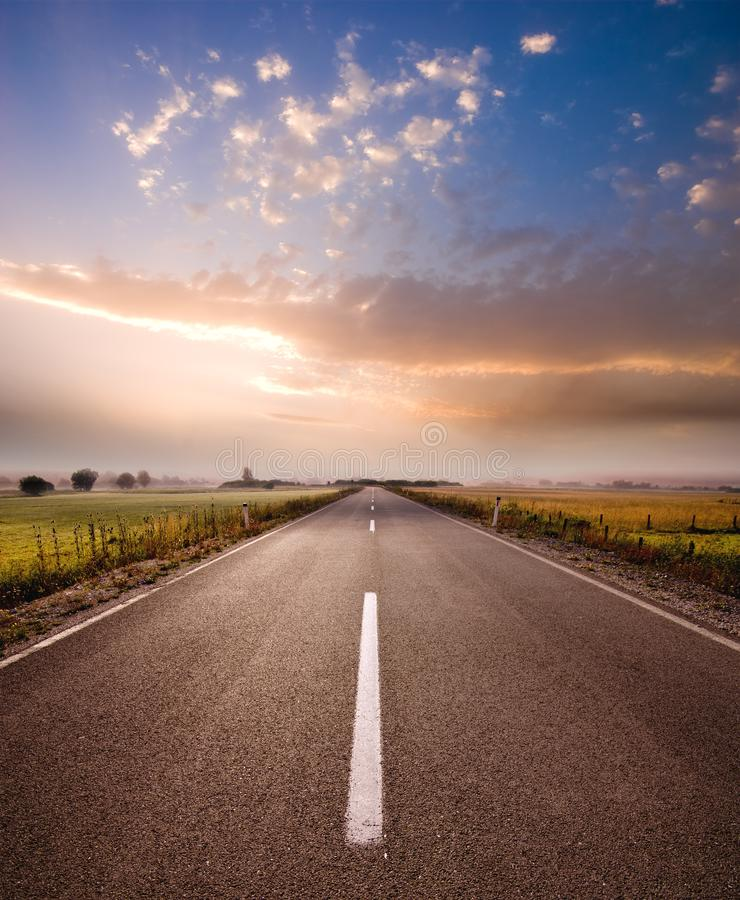 Rural Road In Serbia royalty free stock photo
