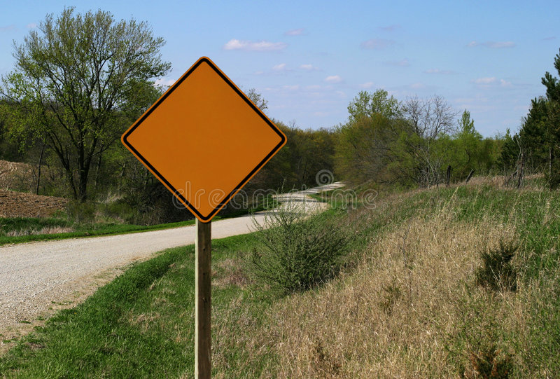 Download Rural Road Sign - blank stock image. Image of curve, caution - 1466935