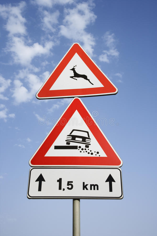 Download Rural Road Signs in Europe stock image. Image of space - 12982235
