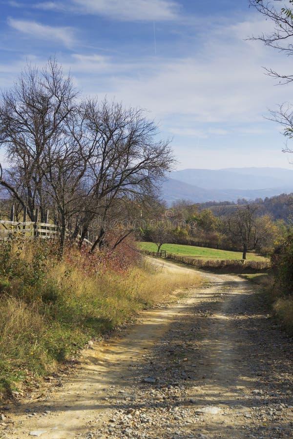 Rural Roads.Rural Village Landscape royalty free stock photo
