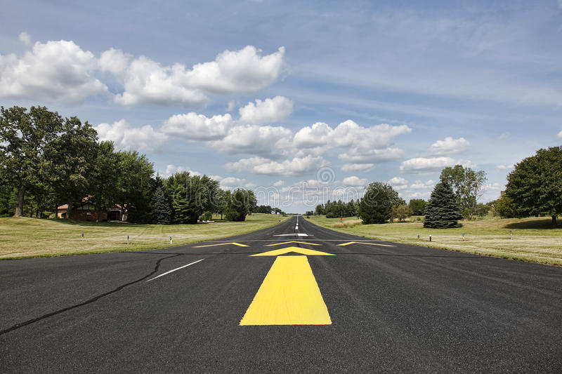 Rural runway in Southern Wisconsin. Rural runway for small planes in Southern Wisconsin royalty free stock photos