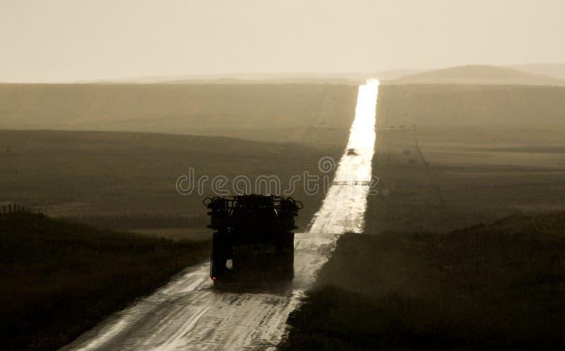 Rural Saskatchewan Country Road Storm Stock Photos