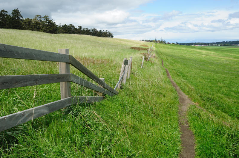 Rural scene of ebey's landing royalty free stock images