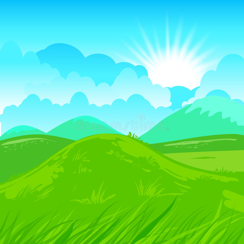 Rural scene illustration. Rural vector illustration. Abstract farm background royalty free illustration