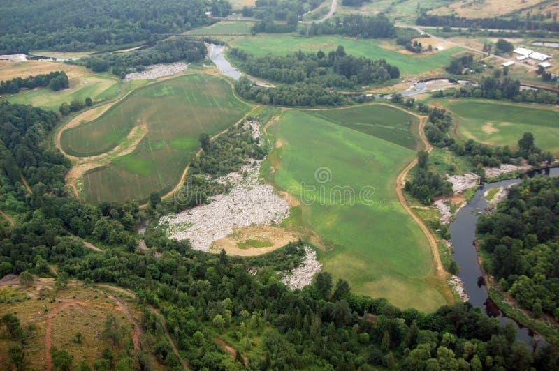 Rural scene, Washington state. Washington state farmland is abundant in the region's many river valleys stock photo
