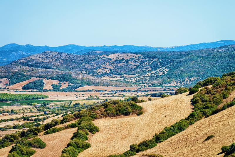 Rural scenery Perdaxius Carbonia Iglesias Sardinia royalty free stock image