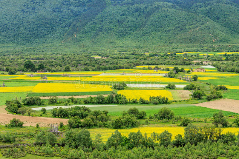 Rural Scenery, Shangri-La. Shangri-La is a county-level city, in northwestern Yunnan province ,China stock images