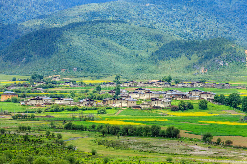 Rural Scenery, Shangri-La. Shangri-La is a county-level city, in northwestern Yunnan province ,China royalty free stock photo