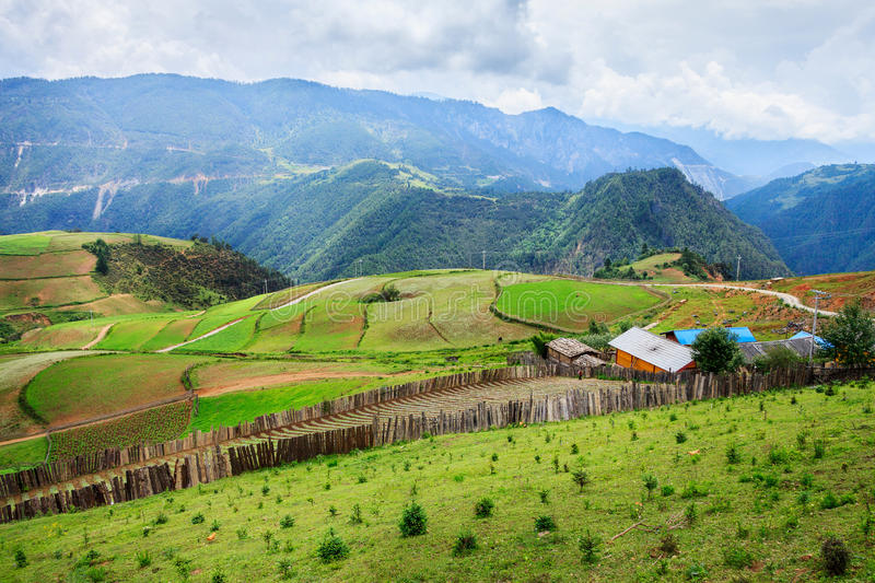 Rural Scenery, Shangri-La. Shangri-La is a county-level city, in northwestern Yunnan province ,China royalty free stock image