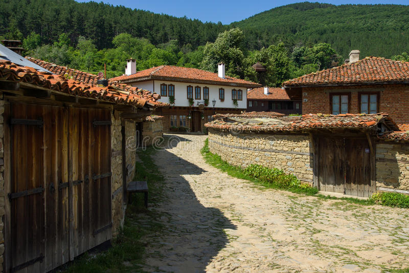 Rural shop in Bulgaria royalty free stock photos